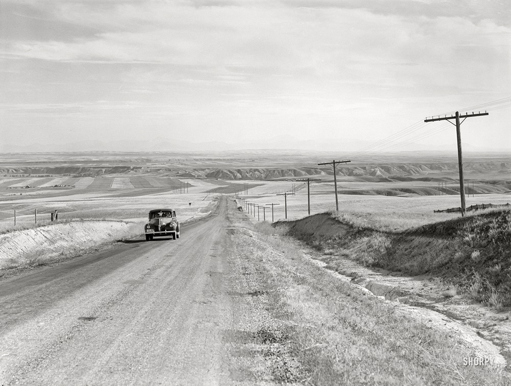 August 1941. Highway near Havre, Montana
